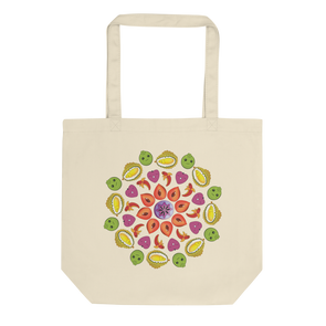 Organic Mandala Medium Tote Bag