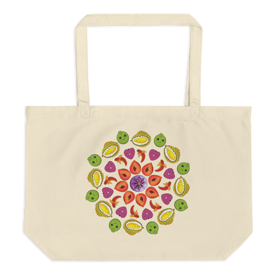 Organic Large Mandala Tote Bag