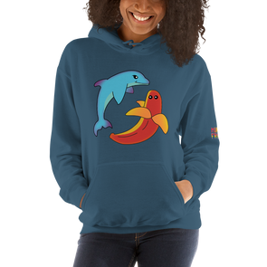 Dolphin Banana Hooded Sweatshirt *Multiple Colors*
