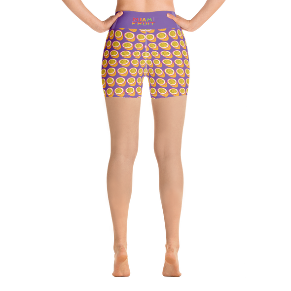 Passionfruit Yoga High Waist Shorts