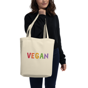 Organic Cotton VEGAN Eco Tote Bag