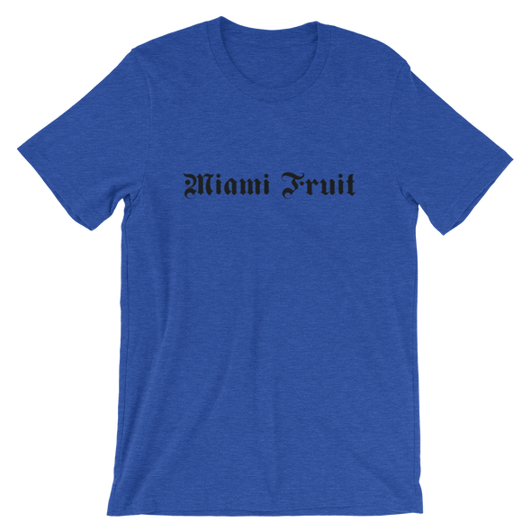 Miamifruit Tattoo Font Short-Sleeve Unisex T-Shirt