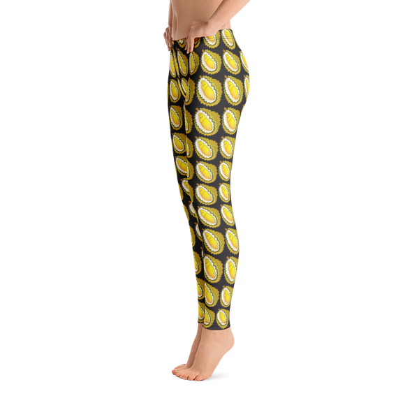 Durian Repeat Black Yoga Leggings