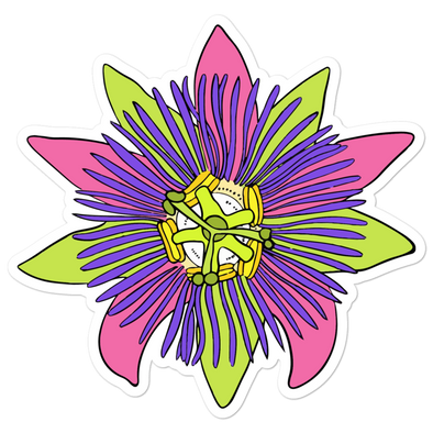 Passionfruit Bubble-free sticker