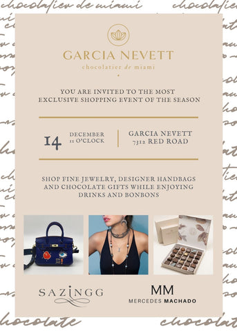 Holiday Trunk Show this Saturday | Garcia Nevett Chocolatier de Miami