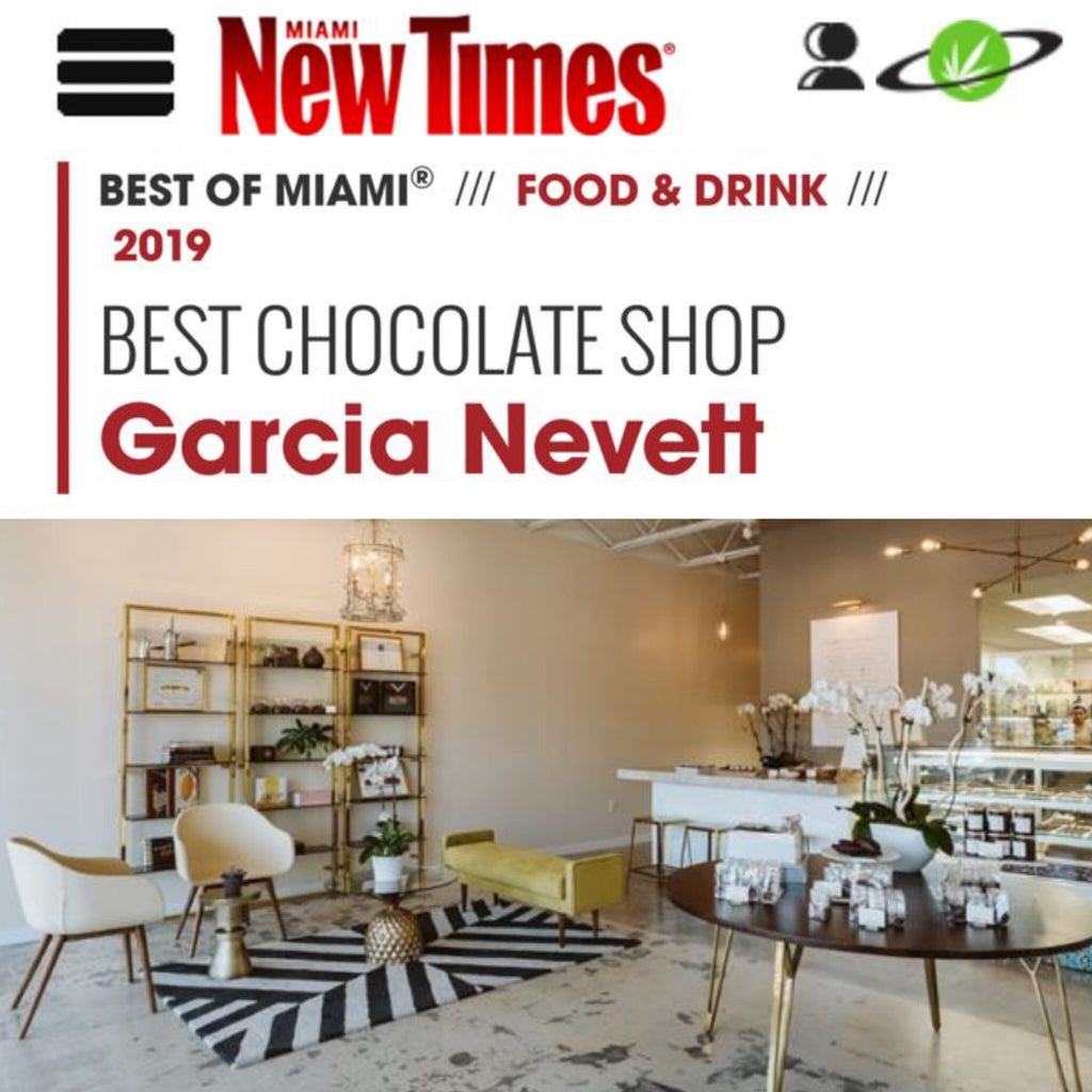 Garcia Nevett named Miami's Best Chocolate Shop!