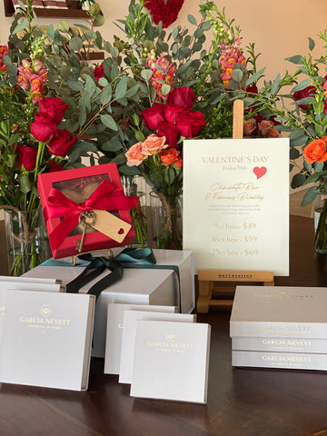 flowers and chocolates for Valentine's Day at Garcia Nevett