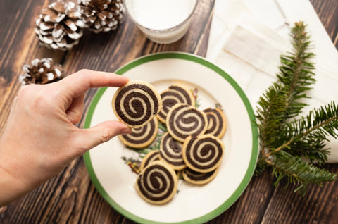 spiral chocolate cookies for christmas at garcia nevett in miami