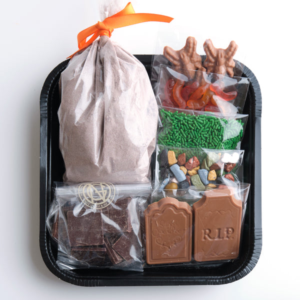 Graveyard Chocolate Cake Kit for Kids with Online Cooking Class
