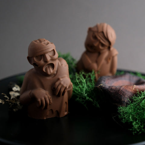 Chocolate zombies as Halloween party food