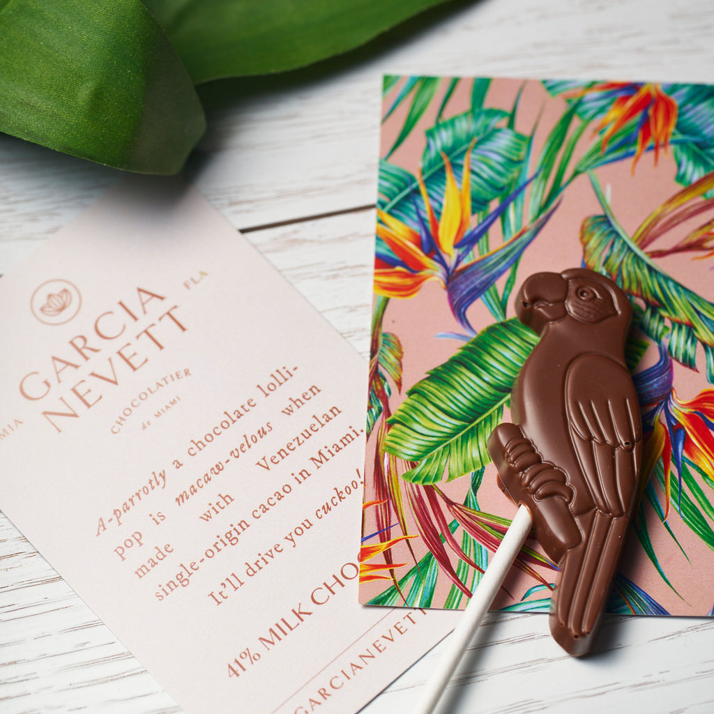 Tropical Birds Chocolate Lollipops