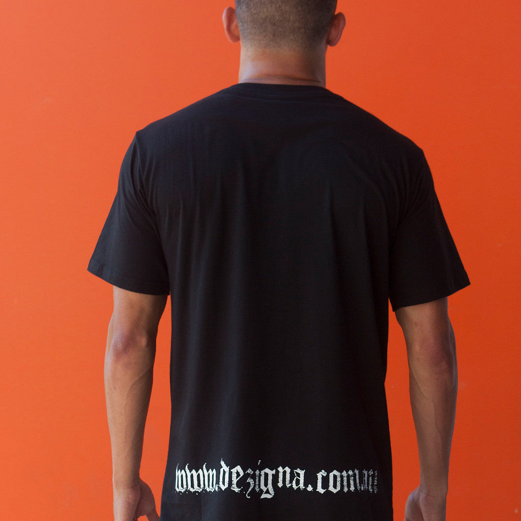 T-Shirt - Dezigna Range 'Black Tee with D' - Dezigna
