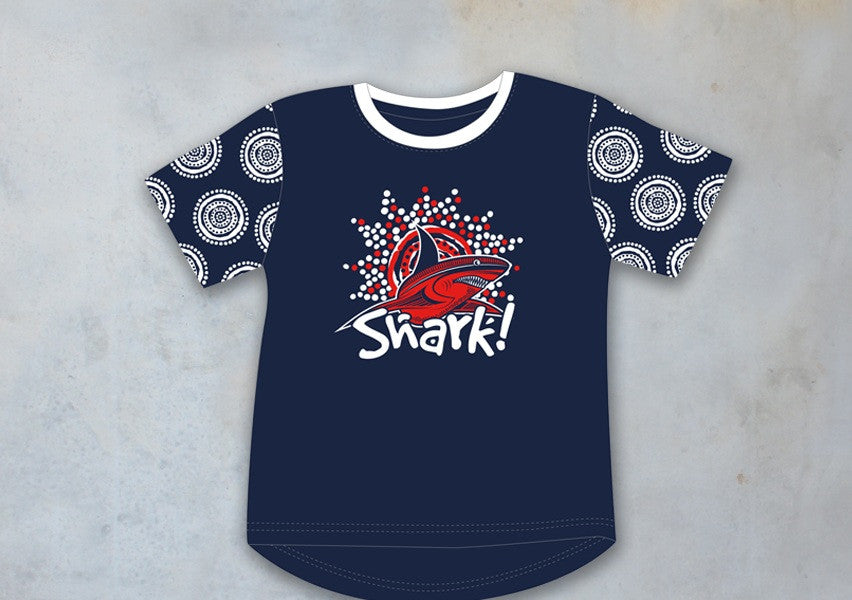 T-Shirt - Kids Boys SHARK Design - Casey Coolwell Range - Dezigna