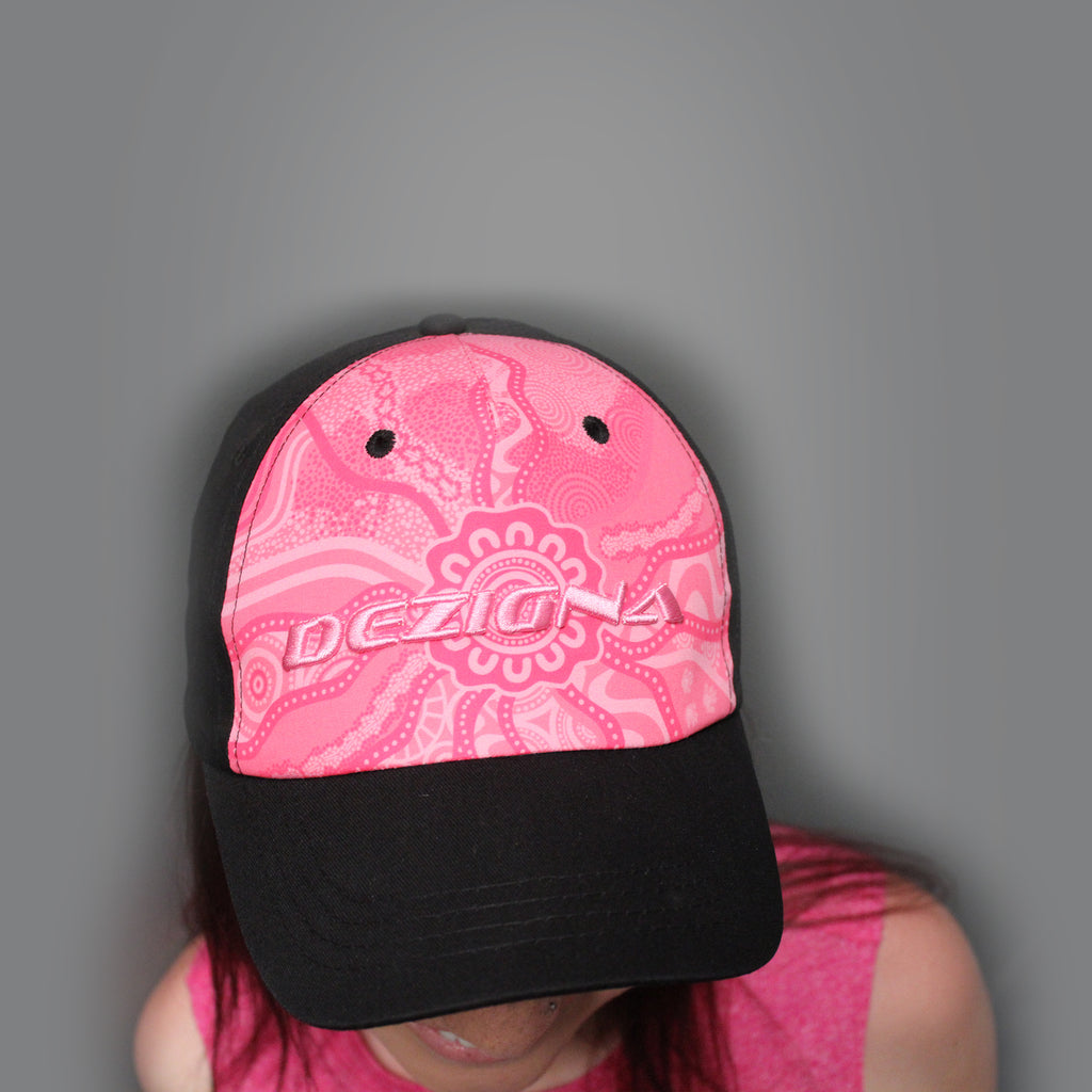 Cap - Curved Brim - Elaine Chambers Range 'Our Journey' Pink - Dezigna