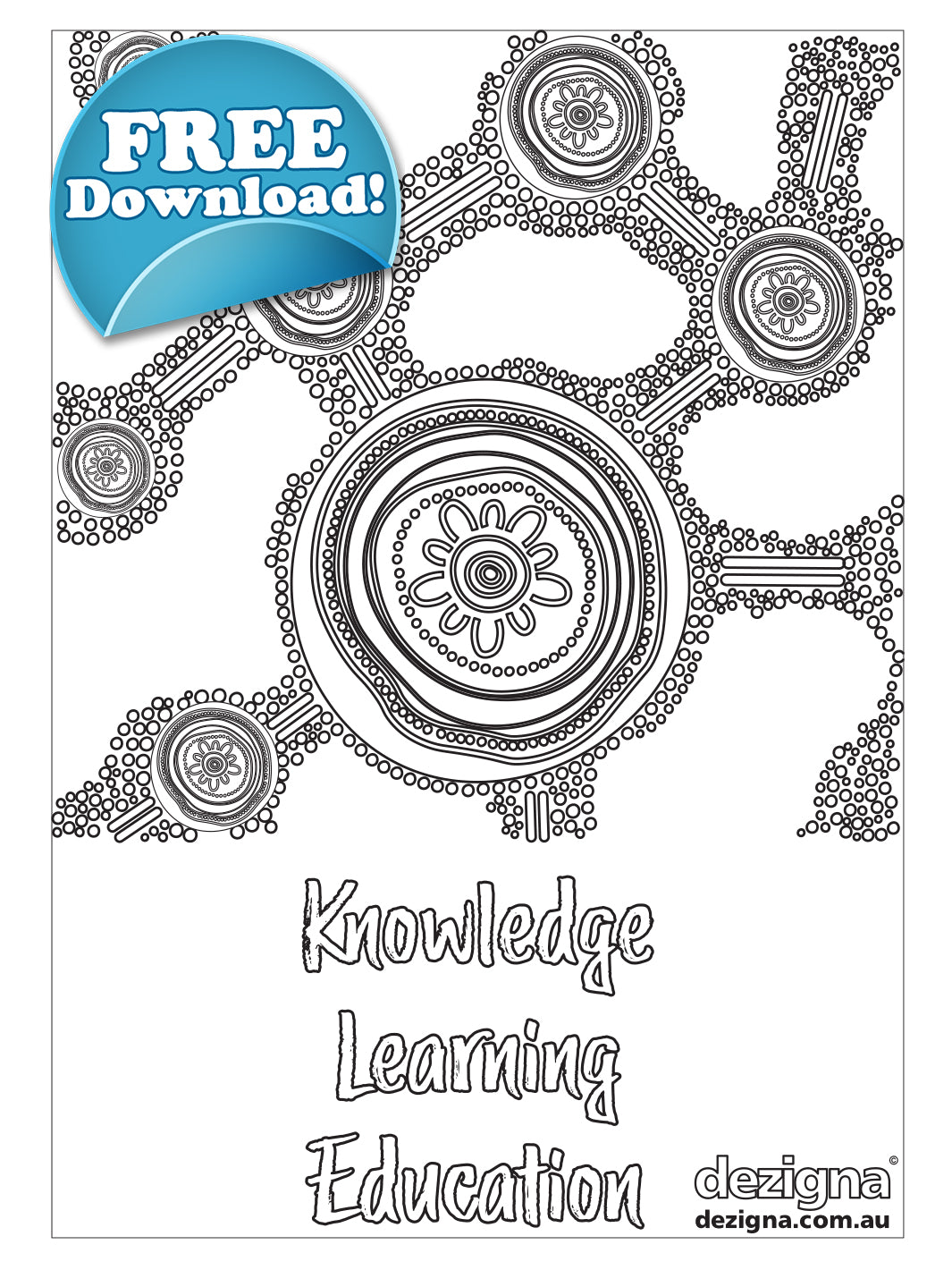 FREE DOWNLOAD - A4 EDUCATION Colouring Sheet