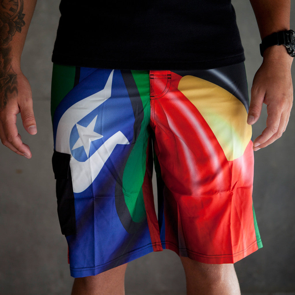 Boardshorts - Adults - Dezigna Range - Flag - Dezigna