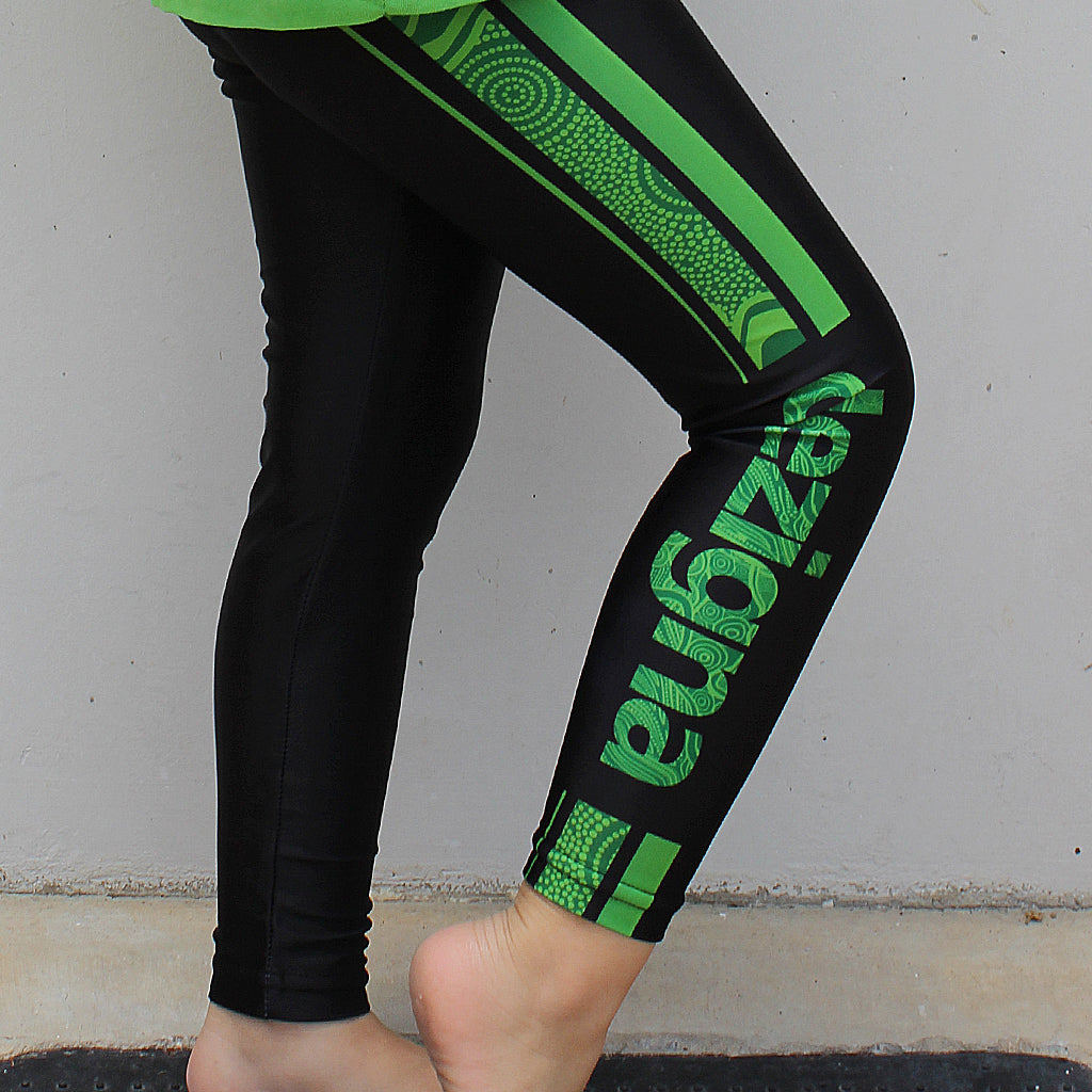 "Leggings - Kids - ""Green"" - Dezigna Range - Dezigna"