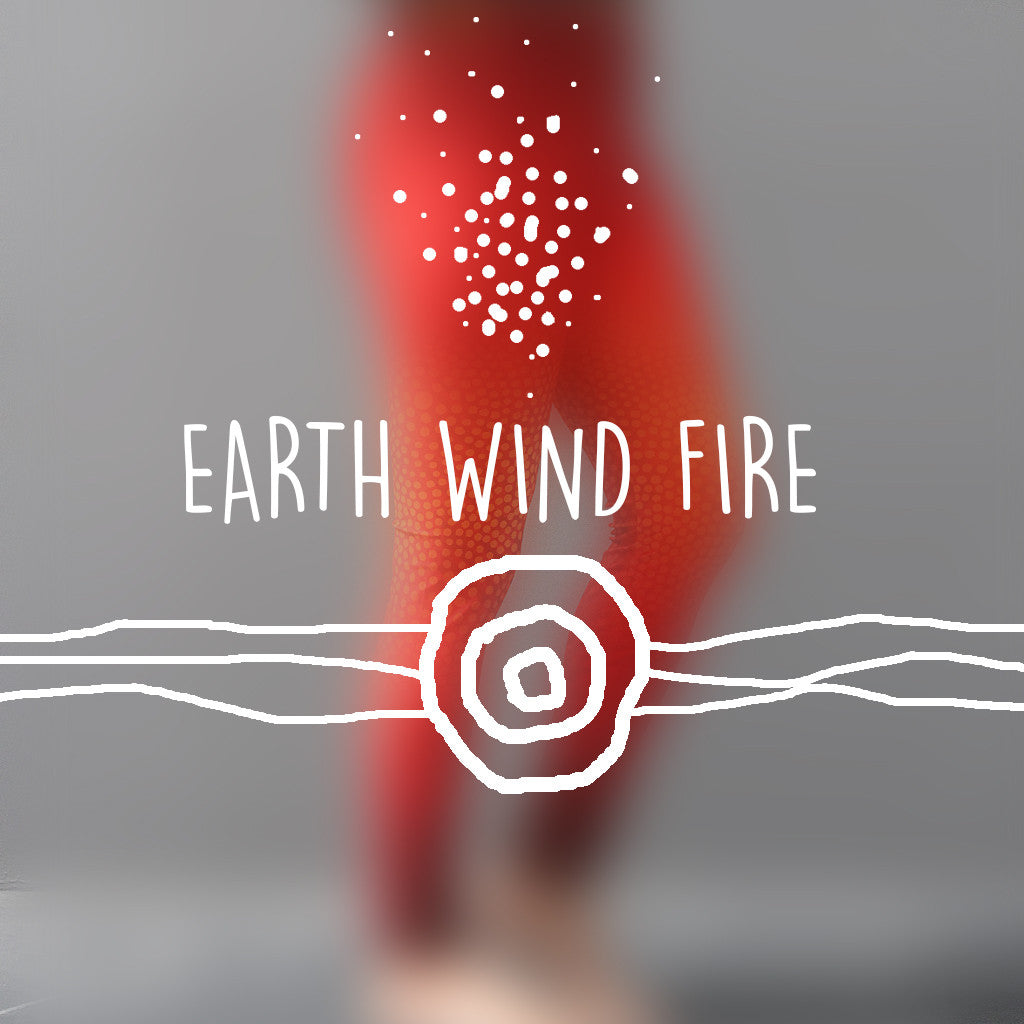 "Leggings - Adult Full Length - ""Earth/Wind/Fire Red"" - Elaine Chambers Range - Dezigna"