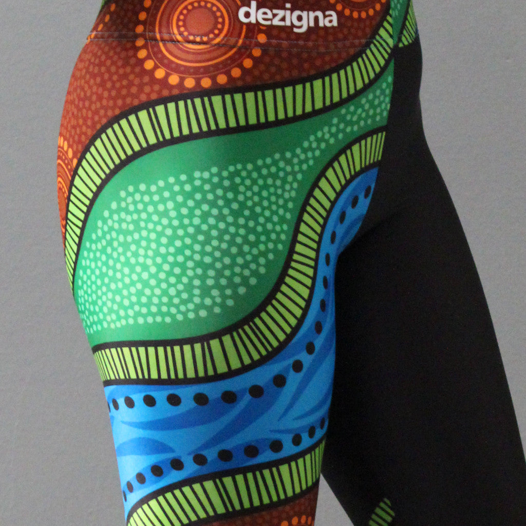"Leggings - Adult - ""Riverways"" - Casey Coolwell Range - Dezigna"