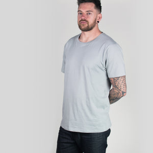 Organic Tee in Light Grey