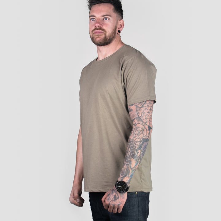 Organic Tee in Walnut