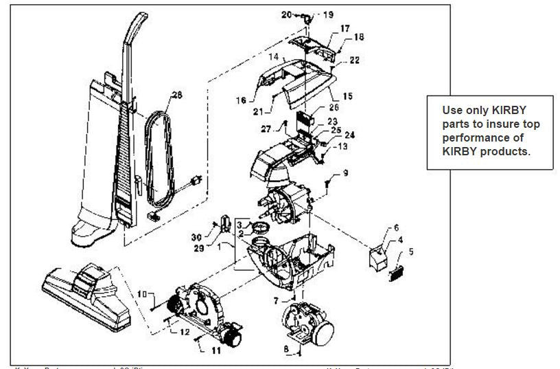 kirby vacuum assembly diagram