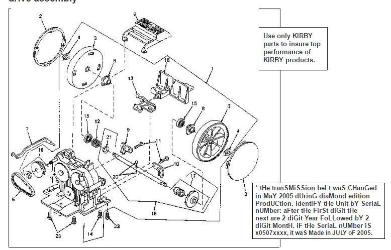 Kirby Vacuum Parts Schematic | TheVacuumCenter.com on kirby g3 controls, kirby g3 transmission, kirby g3 parts, g4 wiring diagram,