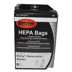 Replacement Kirby 3M Allergen Hepa Filtration Cloth Bags 6 Pack - TheVacuumCenter.com