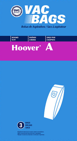 Hoover Type A Replacement Bag by DVC 3pk