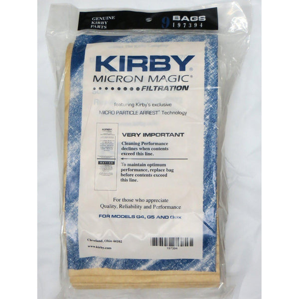 Kirby Micron Magic Filtration G Series Bags 197394 9 Pack