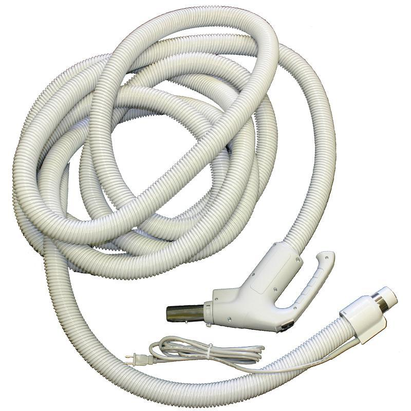 Built-in Central Vacuum Hose 35ft Dual Switching Gas Pump Gray 4W3535FPWS - TheVacuumCenter.com
