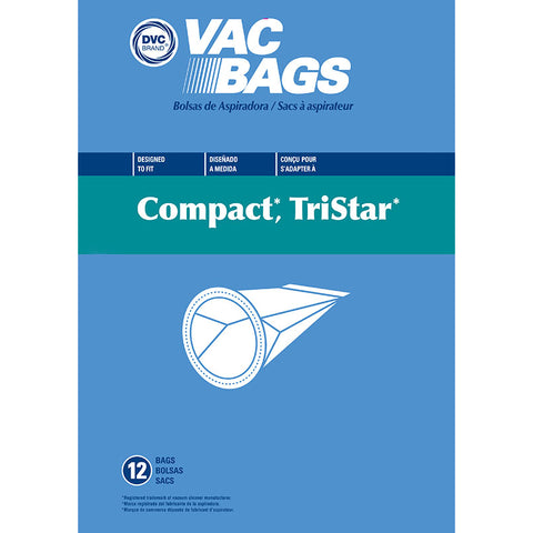 Compact Replacement Vacuum Bags Tristar 12pk by DVC