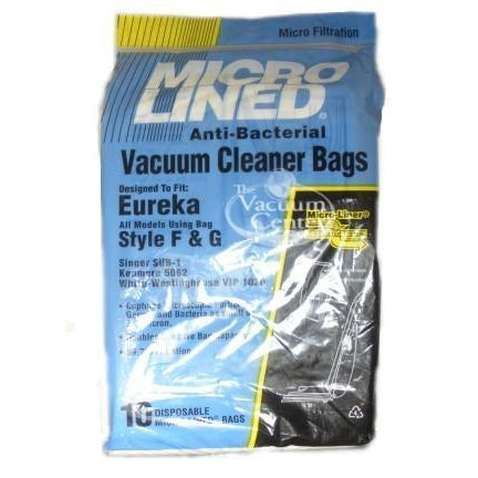 Package of 10 Replacement Eureka Style F + G Bags