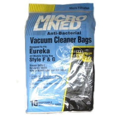Package of 10 Replacement Eureka Style F + G Bags - TheVacuumCenter.com