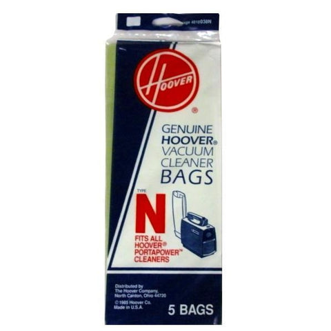Package of 5 Genuine Hoover PortaPower Type N Bags