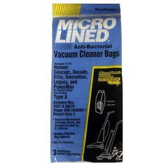 Package of 3 Replacement Hoover Type A MicroLined Bags