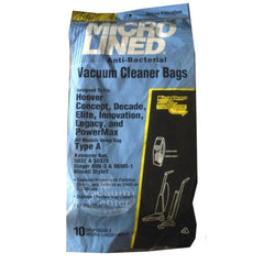 Package of 10 Replacement Hoover Type A MicroLined Bags