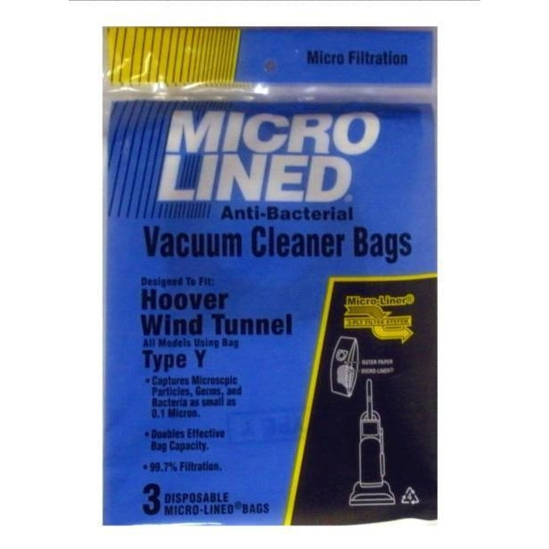 Package of 3 Replacement Hoover MicroLined Type Y Bags - TheVacuumCenter.com