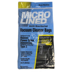 Package of 3 Replacement Hoover Type Z Bags - TheVacuumCenter.com
