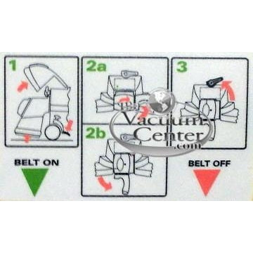 Genuine Kirby Label - Belt Lifter Instructions