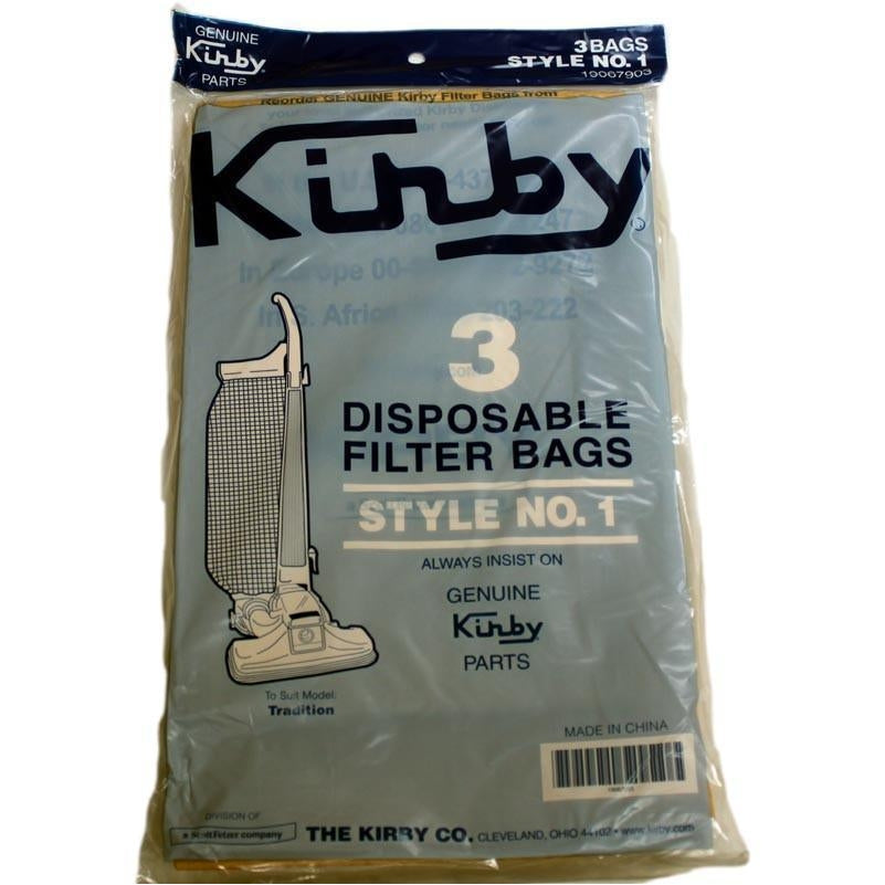 Kirby Style 1 Bags (3 Pack) for Tradition 3CB   Manufacturer Part 190679S - TheVacuumCenter.com