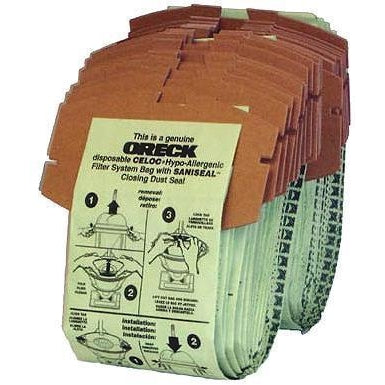 Package of 8 Genuine Oreck Dual Stack HypoAllergenic Bags - TheVacuumCenter.com