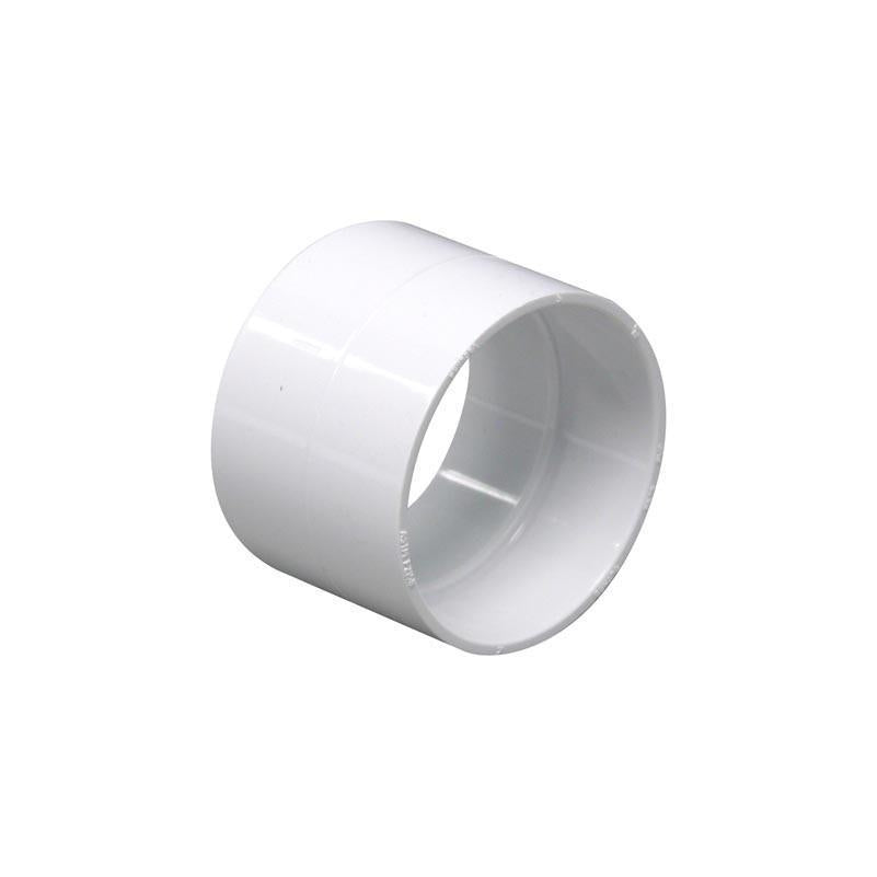 Central Vac Stop Coupling Vaculine White - TheVacuumCenter.com