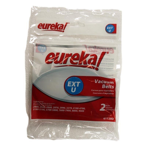Genuine Eureka Extended Life Style U Belt, 2 Pack    Manufacturer Part No.: 61120F-12