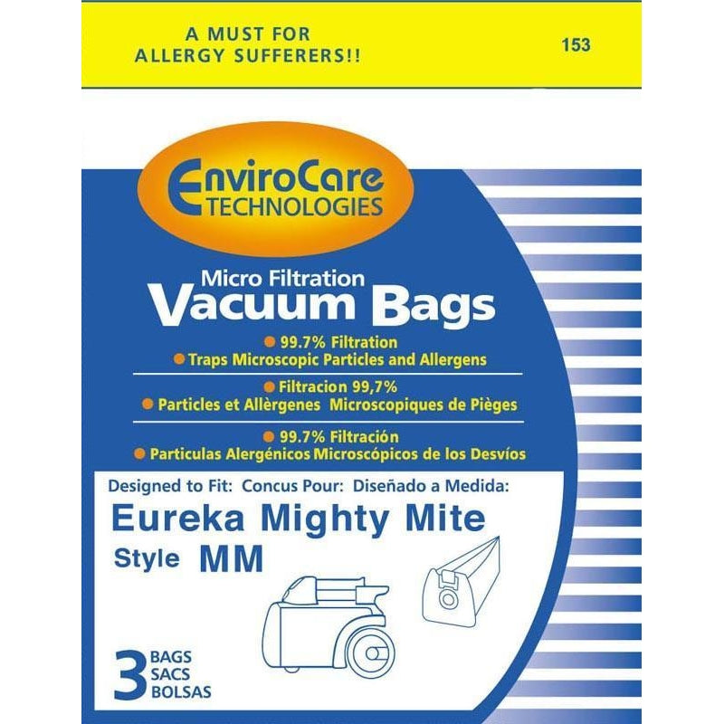 Eureka Style MM Vacuum Bags for Mighty Mite - Generic - 3 pk - TheVacuumCenter.com