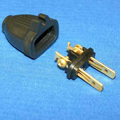 Fit All Male Grip 2 Wire Black Plug, Part No. 32-5604-61