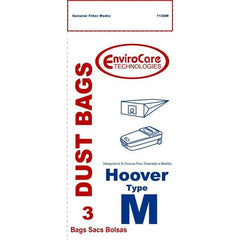 Generic Paper Bag for Hoover Canister Dimension Type M 3 PK.