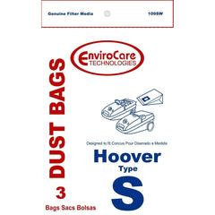 Generic Paper Bags, for Hoover Type S Spectrum/Futura Canister Vacuum 3PK