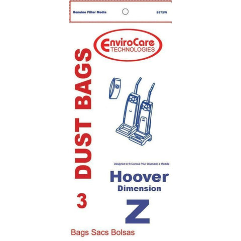 Generic Paper Bags, for Hoover Type Z Dimension Upright Vacuum 3PK