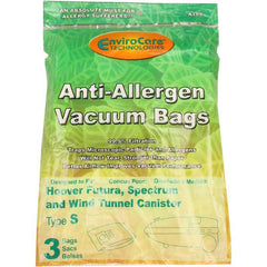 Generic Anti- Allergen Paper Bags for Hoover Spectrum, Wind Tunnel and Futura Cannister Type S - TheVacuumCenter.com